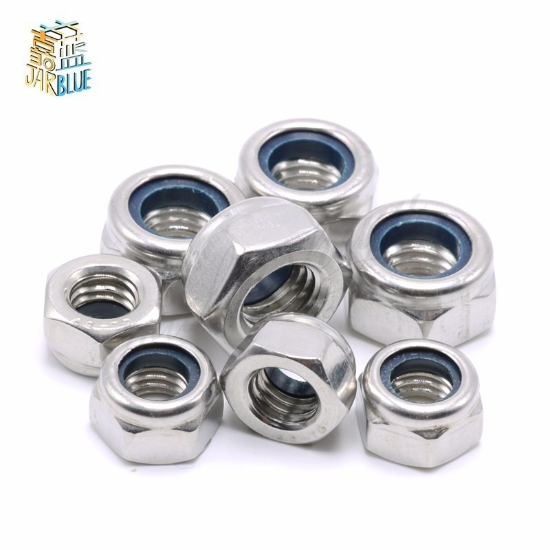 Acero inoxidable A2 304 DIN985-Tuercas de inserción de nailon, Tuercas de seguridad/nailon,...