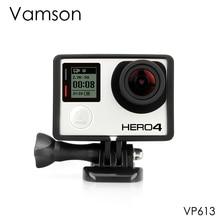 Vamson for Go pro Accessories Standard Protective Plus Frame Tripod Mount Base Screw for GoPro Hero 4 3+ 3 Camera VP613