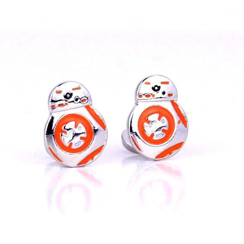 Dongsheng Star Wars BB8 Robot Logo gemelos joyería camisa marca gemelos Souvenir Popular gemelos regalo-40
