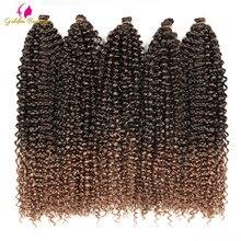 Extensiones de cabello de ganchillo de 22 pulgadas de largo, cabello sintético ondulado al agua, trenzas de ganchillo bohemias, belleza dorada