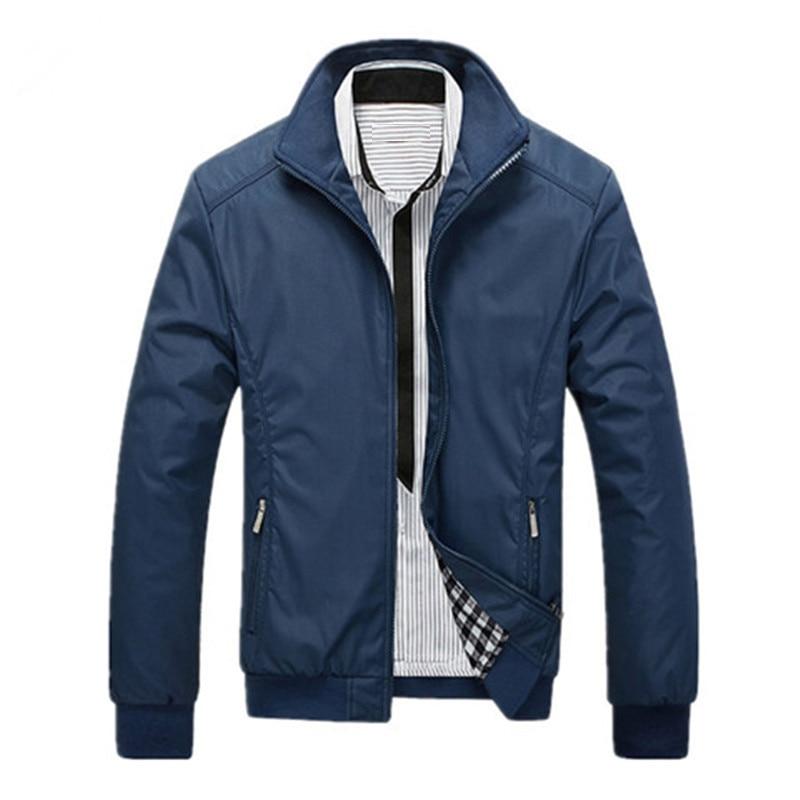 2020 chaquetas y abrigos para hombre chaqueta masculina de calidad delgada diseño Top Casual cazadora de moda sólida hombre de talla grande M-5XL