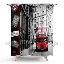 Rideau de douche pour Bus de rue   Boîte postale, Style britannique, rideaux de douche, fournitures de salle de bains, produits H240