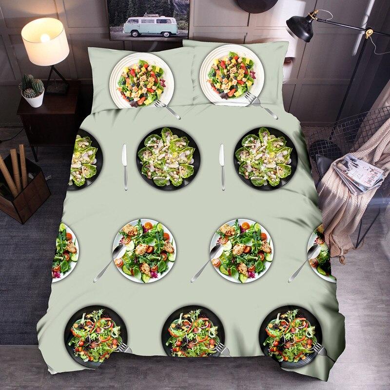 طقم أغطية سرير خضروات ، منتجات طعام صينية في العالم ، غطاء لحاف مطبوع عالي الدقة ، مقاس الاتحاد الأوروبي والولايات المتحدة