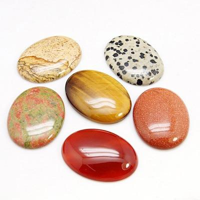 precious stone Cabochons,  Oval,  Magnesite,  40x30x8mm