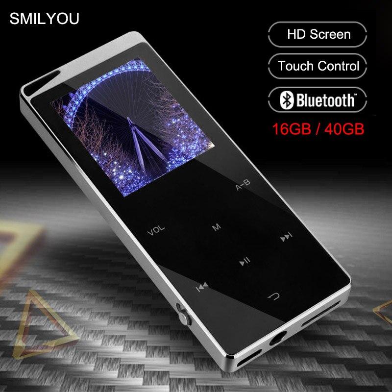 Роскошный Металлический MP4 плеер, Bluetooth плеер, портативный тонкий MP3 MP4 медиаплеер, 2,4 дюйма, сенсорный ключ, fm-радио, 16 ГБ/40 ГБ, музыкальный пле...