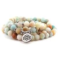 fashion womens matte 108 beads bracelet or necklace high quality charm new design bracelet