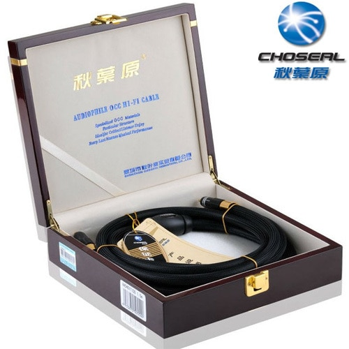 High end Choseal AA-5401 HI FI Auido lijn AV kabel, 2RCA male naar 2RCA mannelijke 6N hoge zuiverheid single crystal koper, 1.5 M/5FT, Zwart