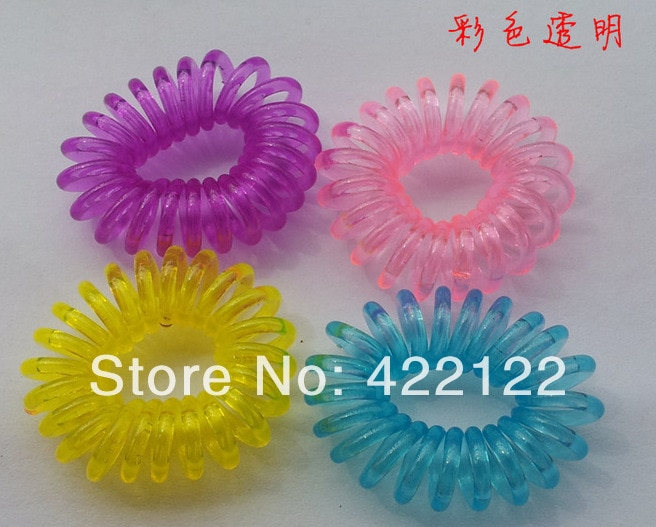 Diadema colorida (cable telefónico) coleta elástica para el cabello lazos accesorios para el cabello cintas HB24 50 unids/lote
