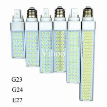 Lampada G23 G24 E27 prise horizontale lampe 8W 10W 12W 15W 18W 30W 85-265V AluminumLED PL maïs ampoule 180 degrés Spot lumière