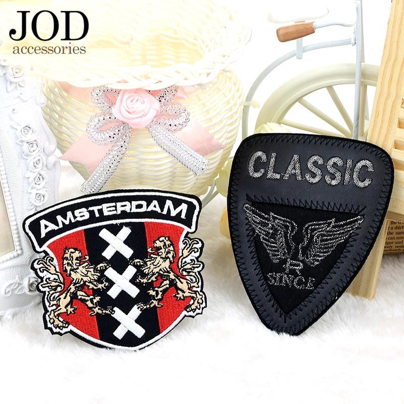 Черный бейджи JOD, тканевый патч для вышивки одежды, железные декоративные аксессуары для самостоятельного изготовления, швейные наклейки для одежды, куртки