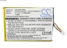 Batterie Cameron Sino 2000mAh GPS0320MG051 pour SkyGolf SkyCaddie SGX, télémètre GPS SGX, SGXw, SGX-W, télémètre SGX-W