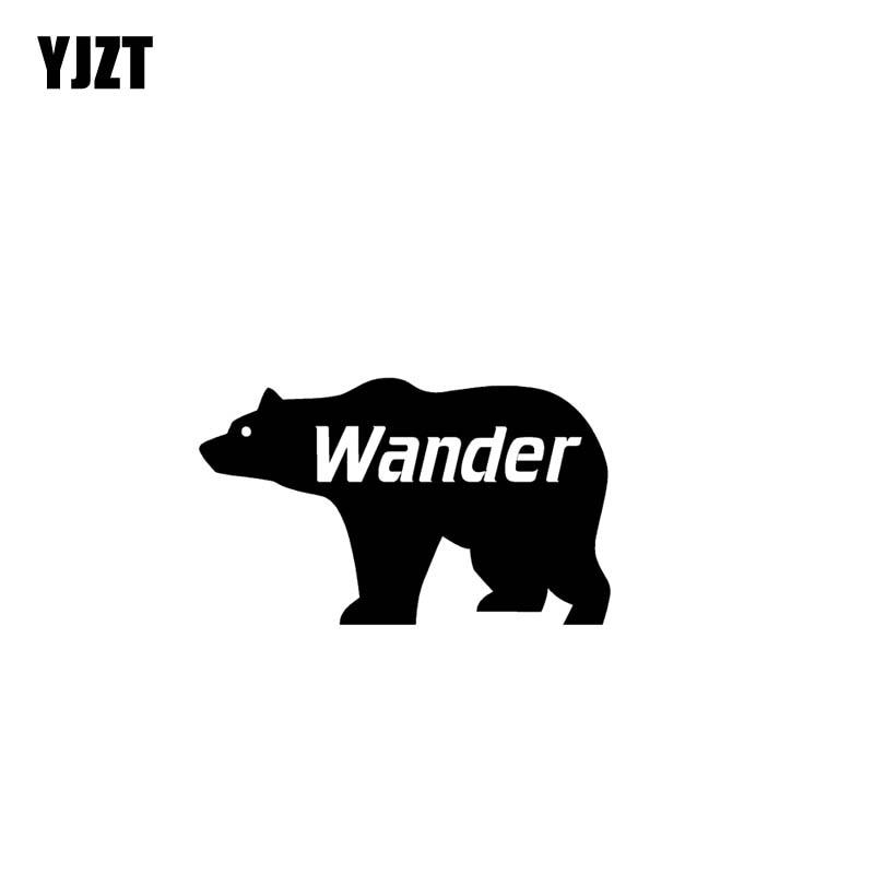 YJZT 12,7 CM * 7,5 CM WANDER ADVENTURE pegatina de vinilo para coche pegatinas de motocicleta negro/plata C13-000483