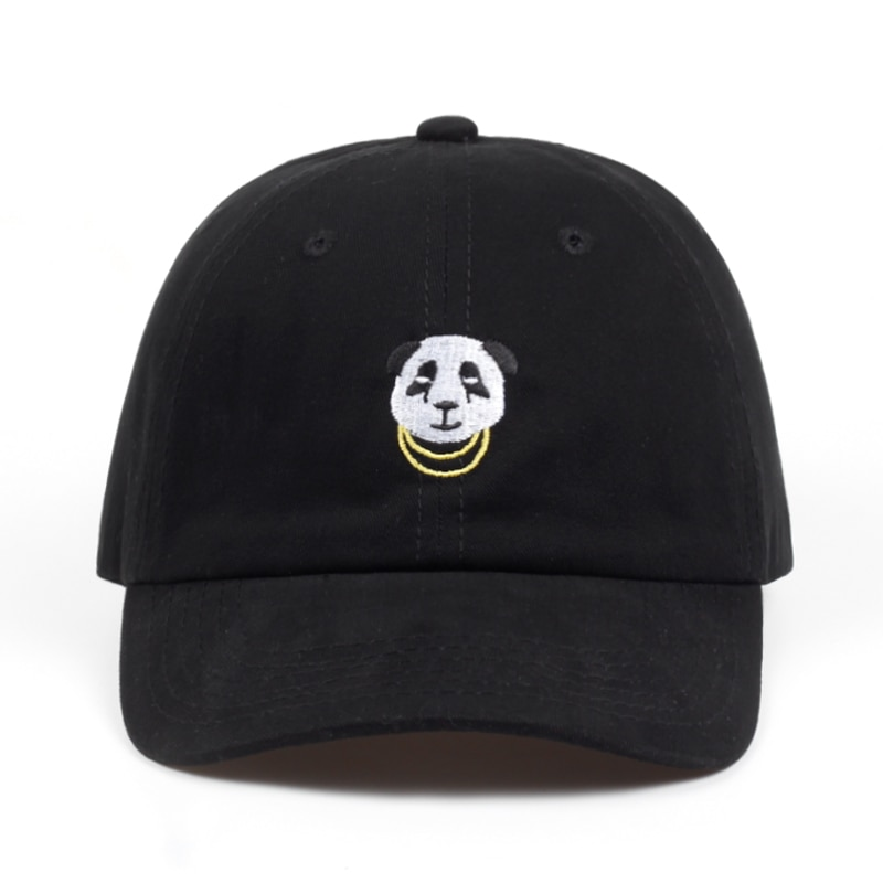 2018 new cotton women panda dad hat adjustable cartoon baseball cap hip hop embroidery snapback hat summer sun bone