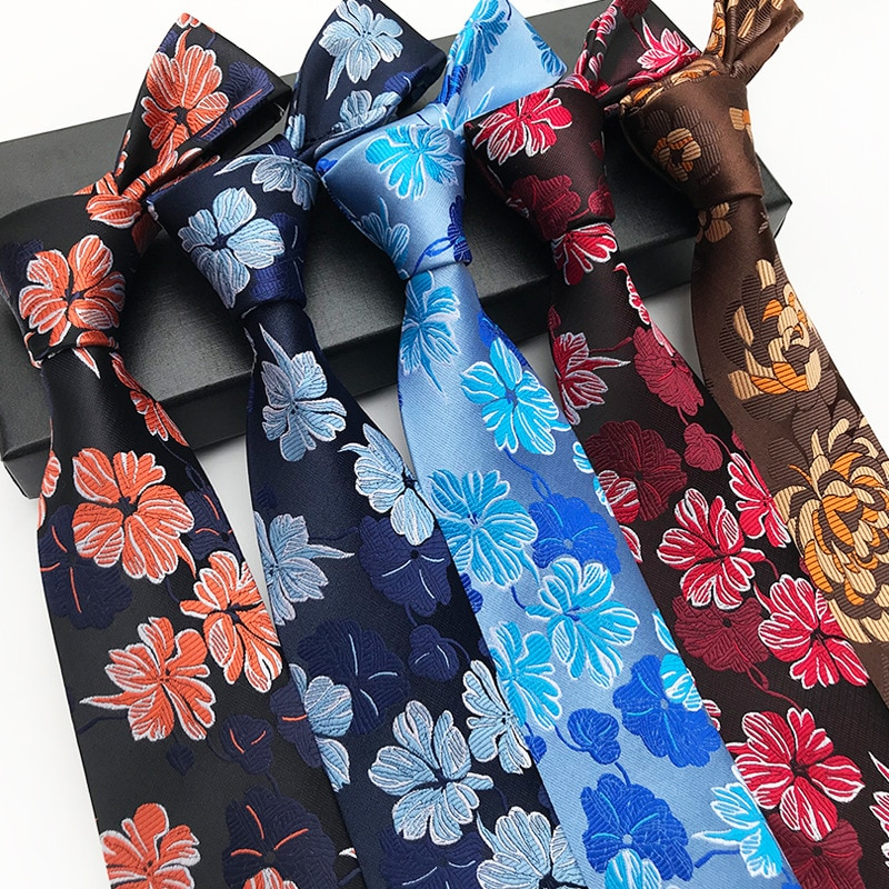Men's Floral  Tie Necktie Casual Formal Party  Wedding Neckties  Flowers Silk Neckties