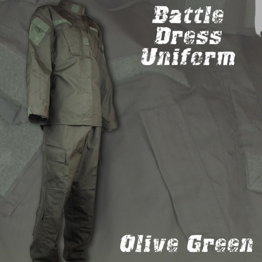 Swat Army Military Tactical Uniform Airsoft Combat BDU Men Clothing Battlefield Hunting Clothes Shirt Pants Set Olive Green