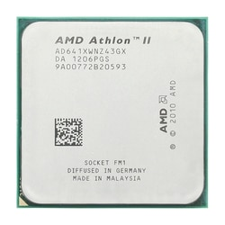 AMD Athlon II X4 641 2,8 GHz/четырехъядерный процессор/AD641XWNZ43GX/Socket FM1