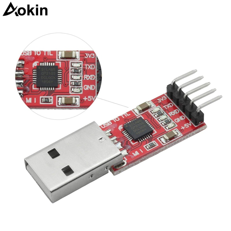 Módulo USB CP2102 a TTL, módulo USB 2,0, descargador UART STC Serial...