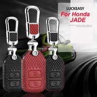 luckeasy car keychain keyring key bag key fob central key cover for honda jade 2013 2017