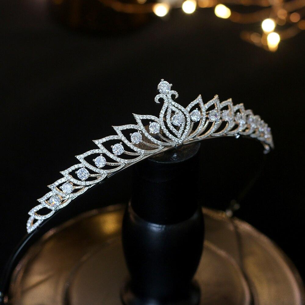 Corona simple de plata para mujer, accesorios de boda para el cabello,...