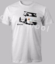 2019 mode manches courtes T-shirt col rond manches courtes T-shirt CIVIC EG 1991-1995 cinquième génération impression personnalisée T-shirt
