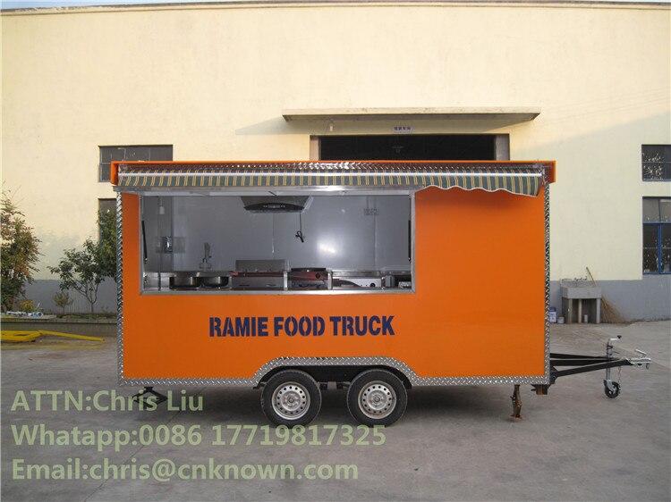 Restaurante móvil camión para la venta de comida rápida camiones de comida PopcornFood camiones de comida móvil remolque