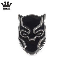 Mściciele czarna pantera maska Wakanda król broszka przypinki odznaka Deadpool Spider-man Batman broszki dla kobiet Wen biżuteria
