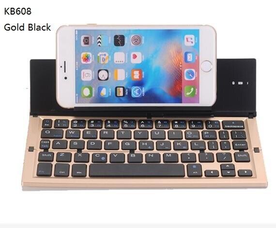 5 colores KB608 Universal teclado inalámbrico Bluetooth IOS Android soporte de teléfono para iPhone 6 iPhone 6s 6s de 7 7 Plus 5S SE iPad Tablet