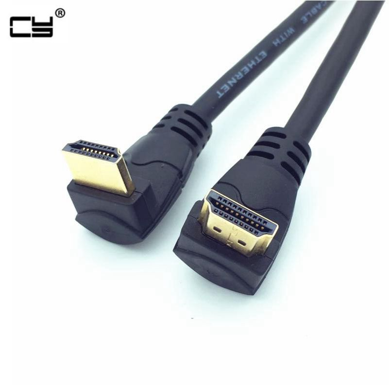 1080P 4K*2K @60HZ HDMI-2.0 HDMI-Cable Male To Male Up To Down Angled High Speed For XBOX HDTV DVD Video 0.3M 0.6M 1.8M
