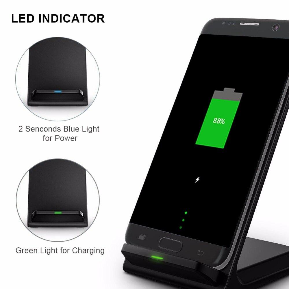 Chargeur sans fil Standard Qi 10 W rapide pour iphone X chargeur sans fil rapide pour Samsung Galaxy S8 S7 S6 Edge Note 8