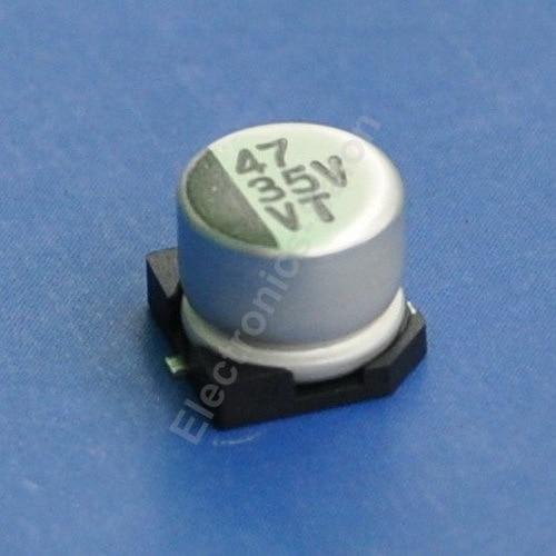 47 uF / 35 V SMD capacitores eletrolíticos de alumínio