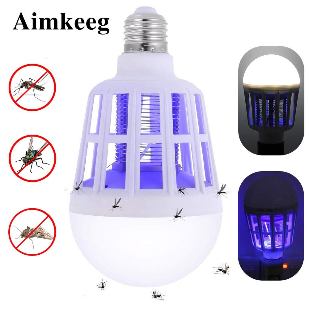 E27 2 In 1 FÜHRTE Moskito Mörder Lampe Anti Moskito Mörder Indoor Outdoor LED Anti Insekt Lampe Licht bug mörder lampe 110V 220V