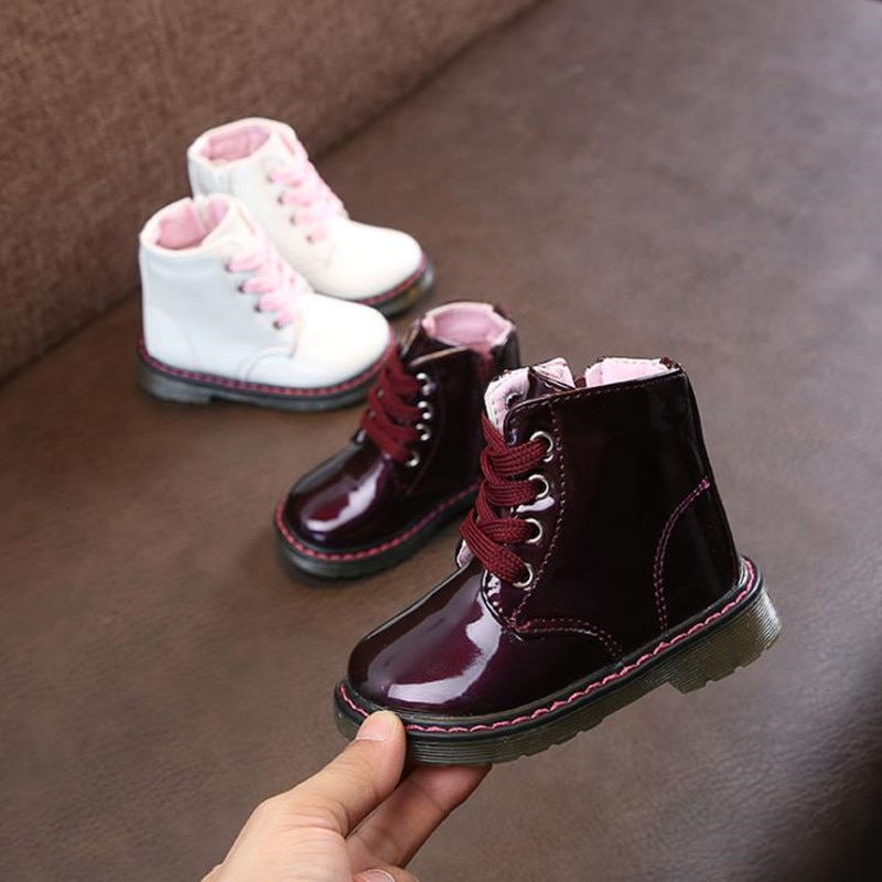 2019 Autumn Winter Top Selling Boys Girls Martin Boots New Fashion Brand Kids Leather Shoes Girls Zi