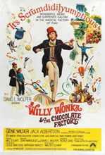 WILLY WONKA et lusine de chocolat film Gene Wilder soie affiche peinture murale