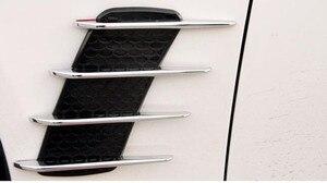 2pcs Car styling the shark gills vent air decoration car stickers for saab key 9-3 9-5 emblem 93 evening dress 95 90 accessories
