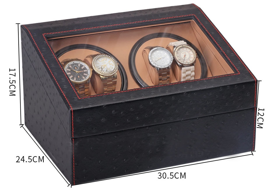Automatic 2 Mabuchi Motor Watch Winders Box Storage Display Case Wristwatches Maintain Cabinet Global Use Gift Choose New Design enlarge