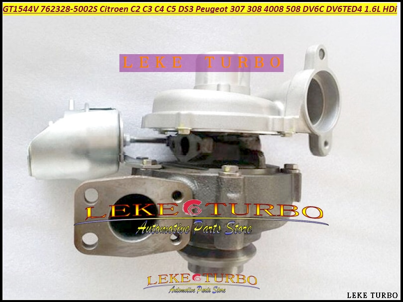 Turbo GT1544V 762328 762328-5003 S 762328-0001 Para CITROEN C2 C3 C4 C5 DS3 09-Para PEUGEOT 307 308 HDi 4008 508 DV6C DV6TED4 1.6L