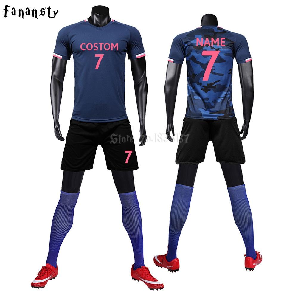 Adultos Universidad Survetement Kit de entrenamiento de fútbol hombres Jerseys de fútbol personalizados uniformes atletismo Running ropa deportiva trajes 2019 nuevo