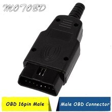 Auto Car 16 Pin Obd Connector Diagnostic-tool Obd2 16pin Adaptor Eobd2 Obdii J1962 Connector Obdii Plug with Screws