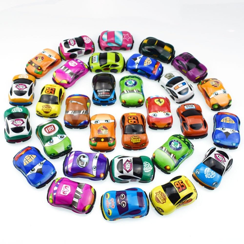 PVC Super Mini Colorful Cartoon Pull Back Cars Toys for Kids Gift Wholesale