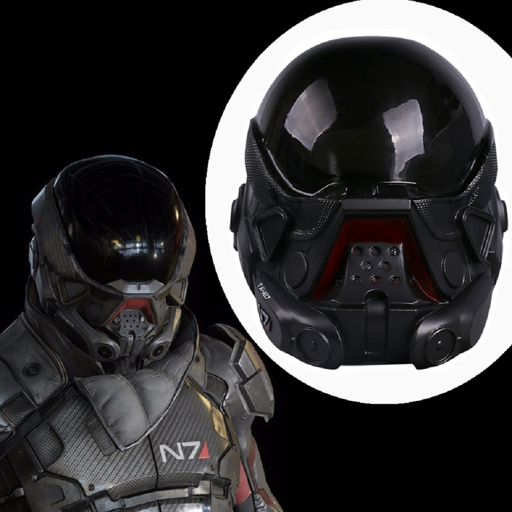 Cos Hot Game Mass Effect Andromeda Mask  Cosplay Helmet PVC  Halloween Party Prop