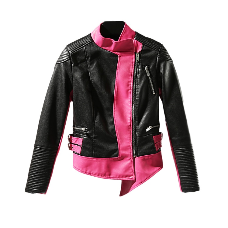 2020 Leather Jacket Full Women Casual Real Jaqueta Couro New Color Matching Slim Locomotive Handsome Personality Tight Female enlarge