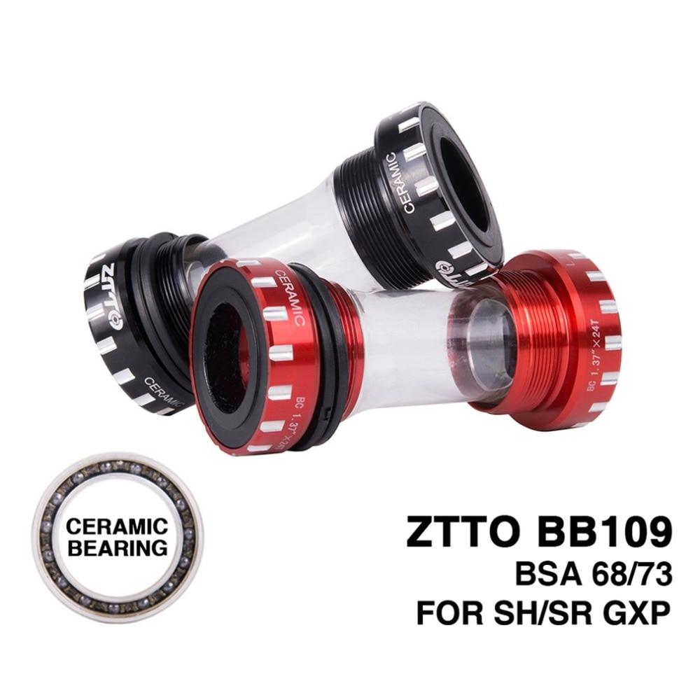 ZTTO Ceramic Bearing BB109 BB68 BSA68 GXP MTB Road Bike External Bearing Bottom Brackets Prowheel 24mm BB 22mm GXP Crankset