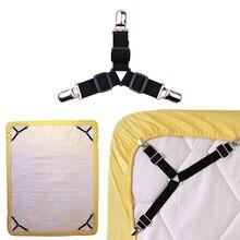 4 stuks Verstelbare Elastische Laken Matras Clip Fasteners Cover Dekens Tafelkleden Sofa Covers Grijpers Fixing Antislip band