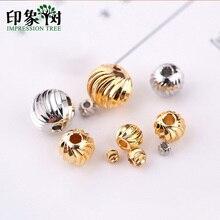 Diverses spécifications or/argent spirale motif cuivre perles breloques accessoires pour bijoux à bricoler soi-même faisant Bracelet 27067