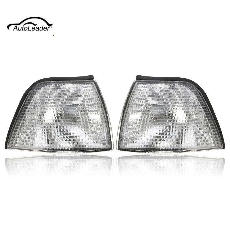 1 pçs claros indicadores dianteiros conjunto saloon estate compacto luz de nevoeiro escudo esquerdo ou direito para bmw série 3 e36 91-99