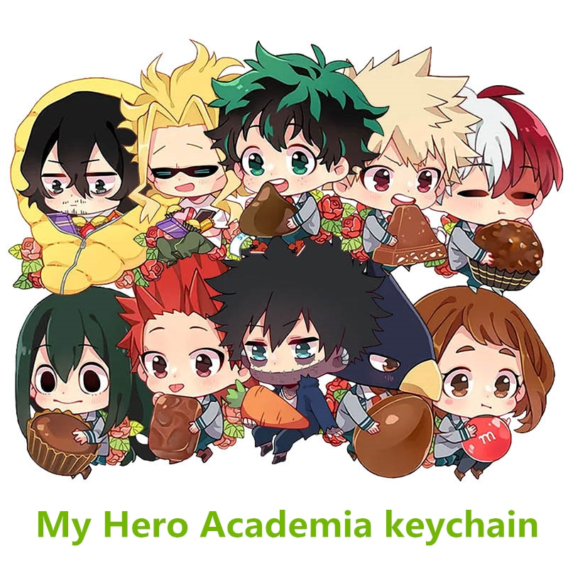 Llavero My Hero Academia, llavero de dos caras, colgante acrílico para Cosplay, llavero coleccionable de Anime