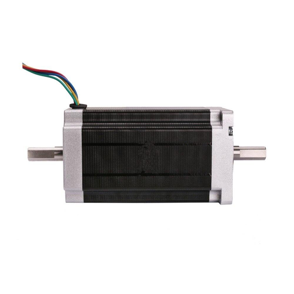 Power Motor! CNC Wantai Nema34 Stepper Motor 85BYGH450C-012B Dual Shaft 1600oz-in 151mm 3.5A CE ROHS ISO USA CA UK DE JP AU Free