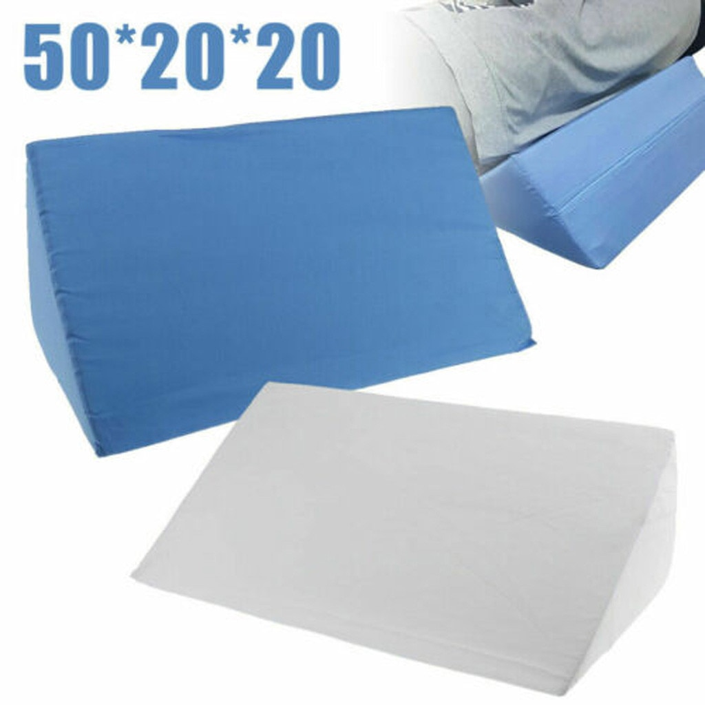 Almohada de espuma de reflujo de ácido, almohada de cuña para cama, elevación de pierna, cojines lumbares de apoyo, almohadas para sillas, sofá, cama, uso