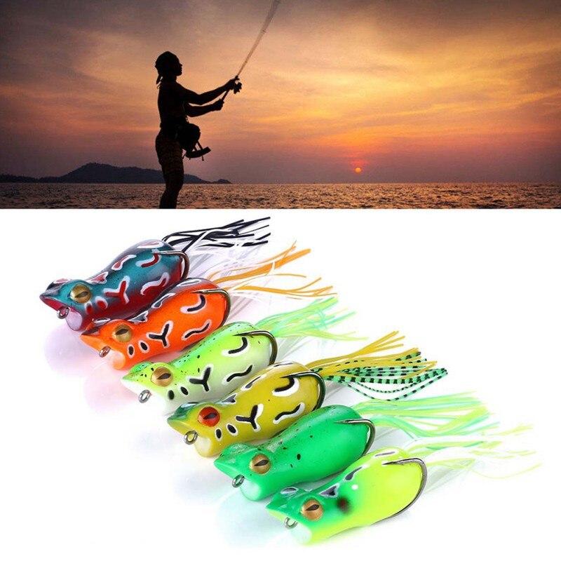 Artificial Bait False Frog Shape Eco-friendly Soft Lure Fishing Accessories