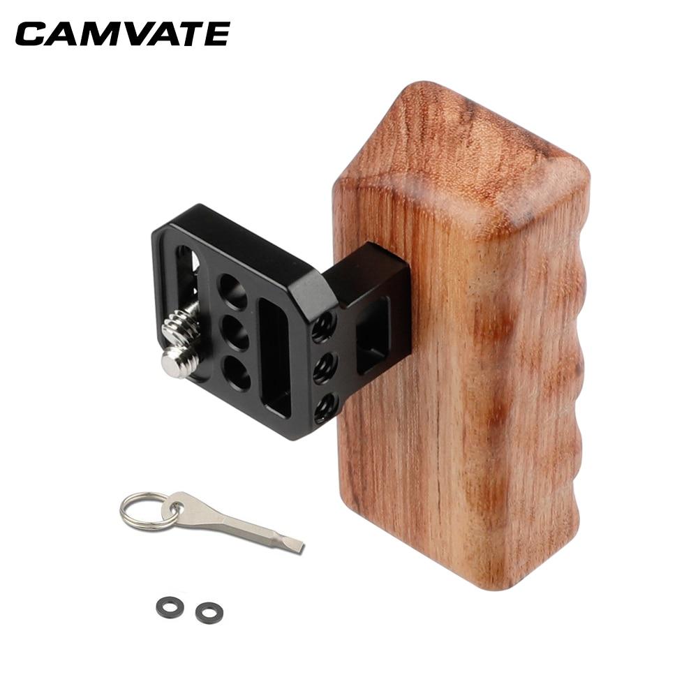 "Mango de madera CAMVATE (izquierda) 1/4 ""para Panasonic GH Cámara C1648"